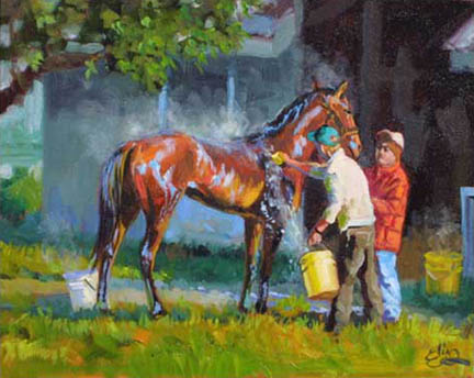 Horse Racing Painting For Sale